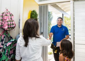 Lead Surveyor Frank steps into home to measure for As-Builts for a successful Remodel