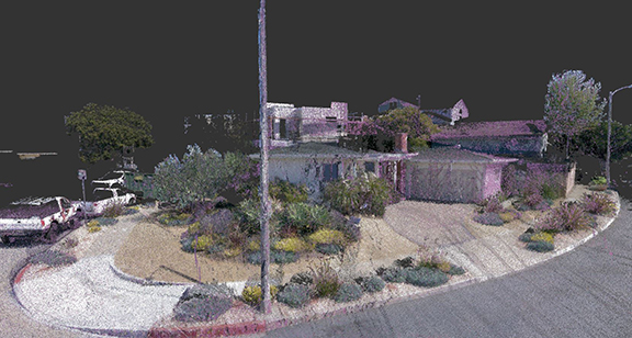 Street Perspective Of Home 3D Laser As-Built Scanner