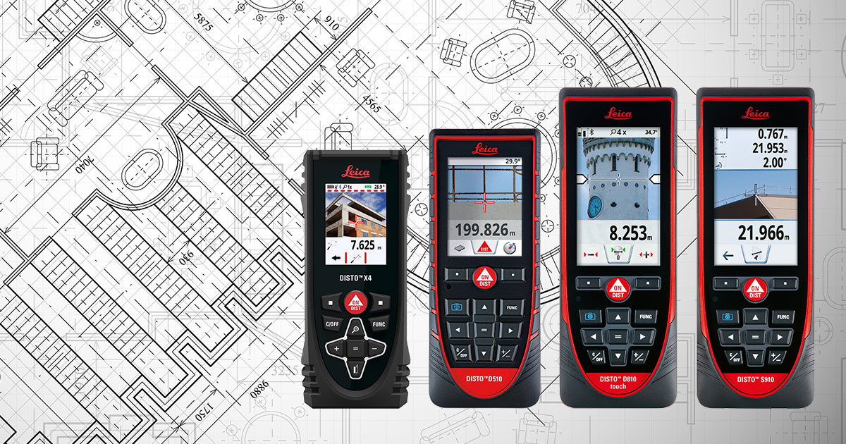 As-Built Tools: Leica Disto Laser Measuring Devices